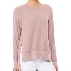 Alo Glimpse Sweatshirt Rose Quartz Pink Small